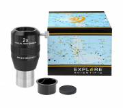 EXPLORE SCIENTIFIC convertitore di focale 2x 31.7mm/1.25""
