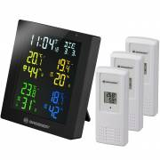 ClimaTemp Hygro Quadro Colour Thermo- / Hygrometer with 3 additional Sensors