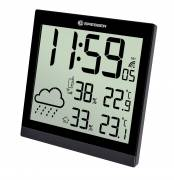BRESSER TemeoTrend JC LCD Wetter-Wanduhr schwarz