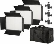 BRESSER SH-1200A Bi-Color LED Panel Lights Set of 3 Pieces