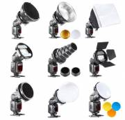 BRESSER BR-SET7 7 Pieces Light Shaper Set for Camera Flashes