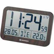 BRESSER MyTime MC LCD Wall /Table Clock in wooden Design 225x150mm