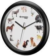 Horloge murale BRESSER Junior avec bruits d'animaux