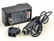 BRESSER Battery Charger for Sony NP-FM500H / NP550 / NP750 with power plug and car adapter