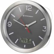 BRESSER MyTime Thermo-/Hygro Bath Clock - grey