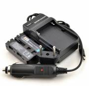 BRESSER Battery charger + 2x Battery compatible with Sony NP-FM500H 7.4v - 2000mAh