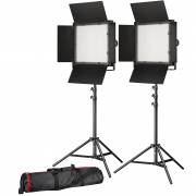 BRESSER LED Photo-Video Set 2x LS-900 54W/8.860LUX + 2x Treppiede