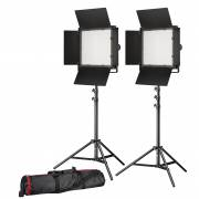 BRESSER LED Photo-Video Set 2x LS-600 38W/5.600LUX + 2x tripod