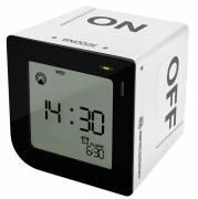 BRESSER FlipMe Radio Controlled Alarm Clock white