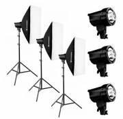Set de Flash de Studio BRESSER BRT-210B 3x 200W