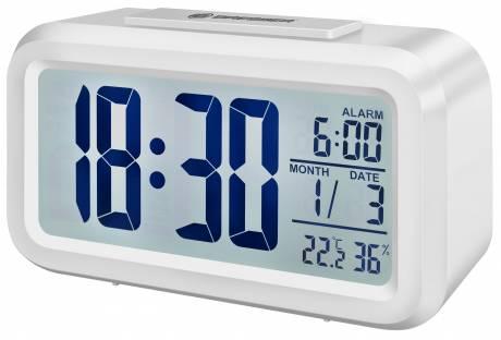 BRESSER Réveil My Time Duo LCD, BLANC