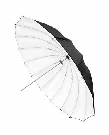 BRESSER SM-14 Jumbo Paraguas blanco/negro tamaño 150 cm