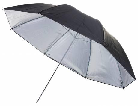 BRESSER BR-BS110 Ombrello riflettente nero/argento 110cm