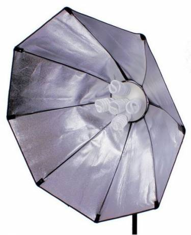 BRESSER SS-18 Octabox 120cm pour 5 Ampoules en Spirale