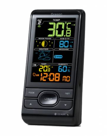 Wireless Weather Station with Humidity & Weather Alert - BAR208SA - Black