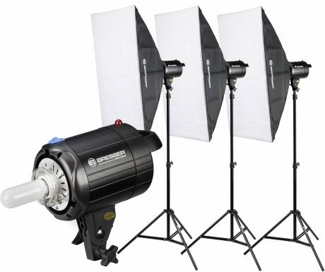 Set di Flash da Studio BRESSER BRM-300AM 3x 300W