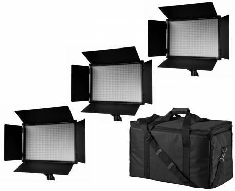 BRESSER SH-600 LED Panel Lights Set of 3 Pieces