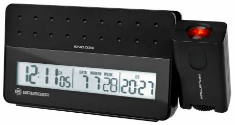 BRESSER MyTime Pro Projection Alarm Clock black