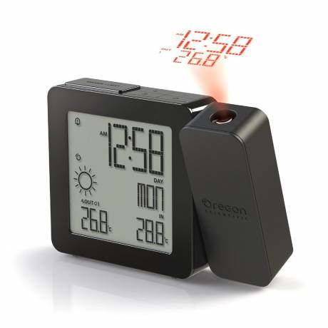 Oregon Scientific Proji Projektionsuhr mit Innen/Außentemperatur - Schwarz