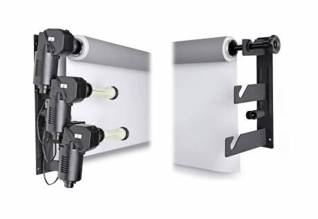 BRESSER MB-3Y Elektrische Wandhalterung für 3 Papierhintergrundrollen