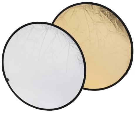 Riflettore pieghevole 2-in-1 BRESSER BR-TR5 oro/argento 80cm rotondo