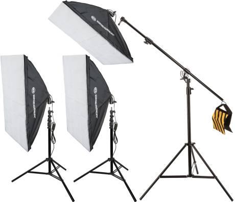 Kit d'éclairage de Lumière du Jour BRESSER SS-16 60x90cm (900W)