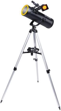 BRESSER Solarix AZ 114/500 Carbon Design Teleskop Starter Set