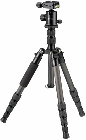 BRESSER BR-2205-N1 Carbon Photo Tripod up to 8 kg also usable as Ground Level Tripod