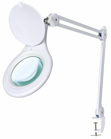 Bresser 2x 125mm Magnifying Clamp On Led Desk Lamp