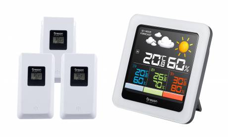 Oregon Scientific Color-LCD multi-zone weather station