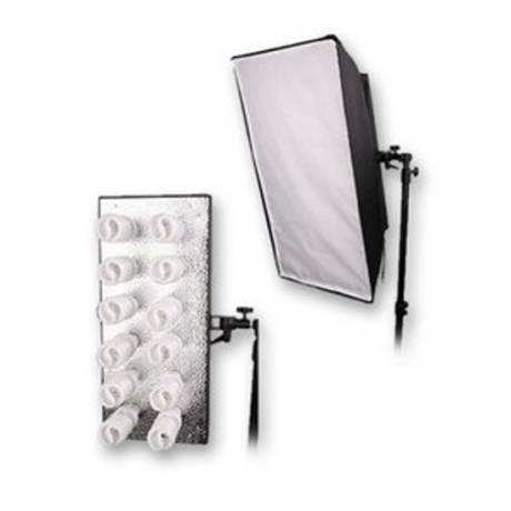 BRESSER MM-18 Support de lampe pour 12 lampes spirales