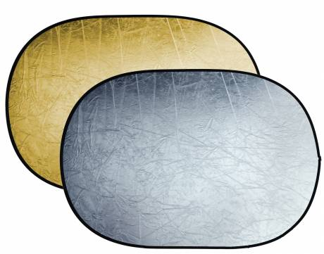 BRESSER BR-TR5 2-in-1 collapsible Reflector gold/silver 120x180cm