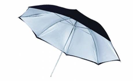 BRESSER SM-03 Parapluie Réflecteur argenté granité/noir 109cm