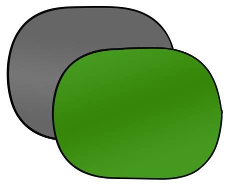 Fondale richiudibile BRESSER BR-3 180x240cm grigio/verde