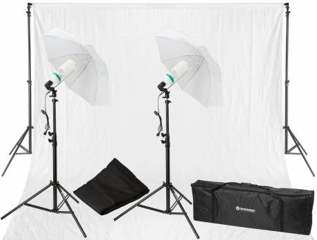 Set di Illuminazione Luce diurna e di Fondali fotografici BRESSER BR-2103 850W