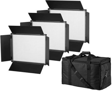 BRESSER SH-1200 LED Panel Lights Set of 3 Pieces