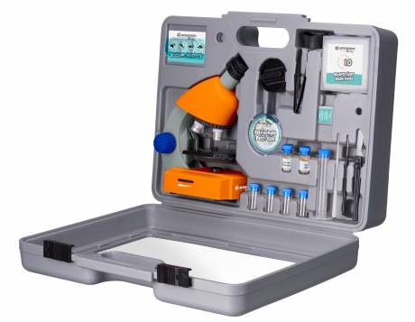 BRESSER Junior 40x-640x Microscope with Accessories and Hard Case