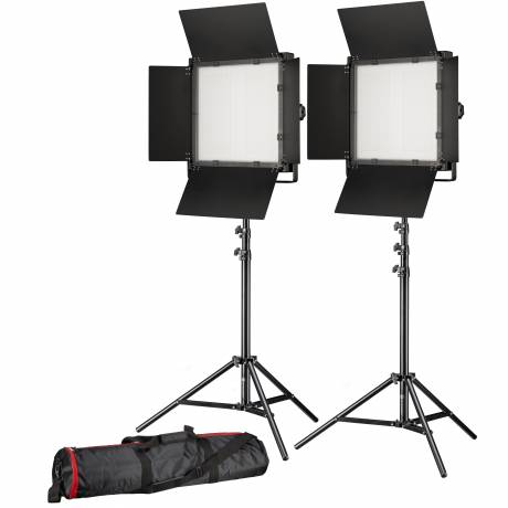BRESSER LED Foto-Video Set 2x LS-900 54W/8.860LUX + 2x Stativ