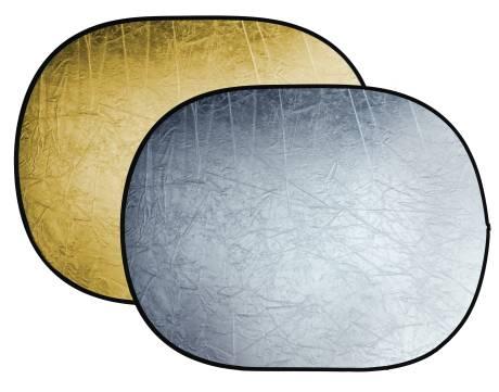 Reflector plegable 2-en-1 BRESSER BR-TR5 oro/plata de 150x200cm