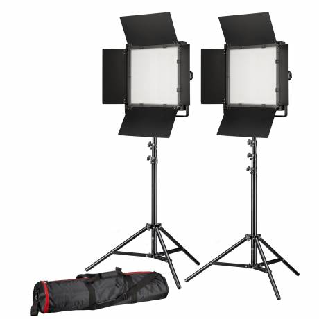BRESSER LED Photo-Video Set 2x LS-600 38W/5.600LUX + 2x Treppiede