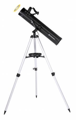BRESSER Venus 76/700 AZ - Spiegelteleskop mit Smartphone Kamera Adapter