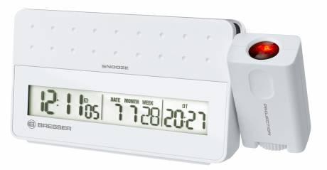 BRESSER MyTime Pro Reloj despertador con Proyector - color blanco
