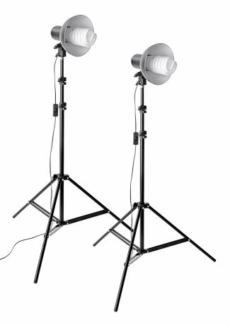 Kit di Illuminazione 2A BRESSER MM-11 Foto/Video Luce diurna  (2 x 85W)