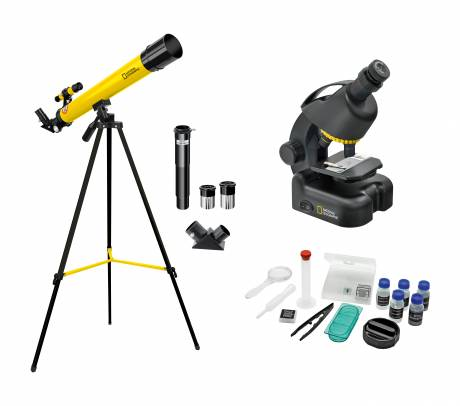 Set Telescopio + Microscopio NATIONAL GEOGRAPHIC per Principianti
