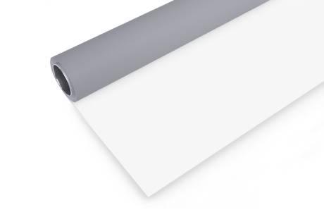 BRESSER Rollo de fondo de vinilo 2x6m gris/blanco