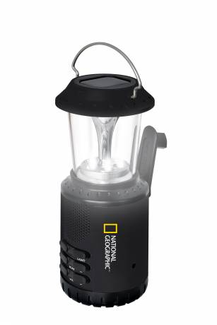 NATIONAL GEOGRAPHIC LED Solar Lamp and Radio