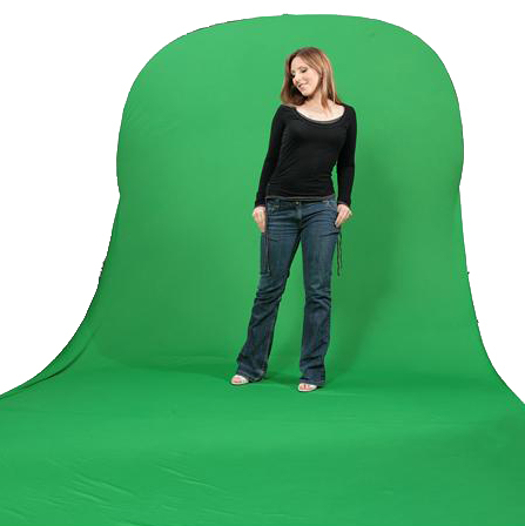 BRESSER BR-TR11 chromakey green collapsible Background with Train 180x240+240cm