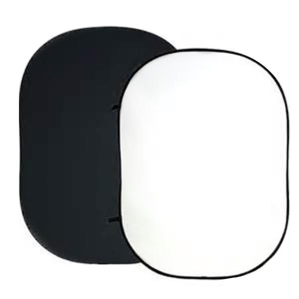 BRESSER BR-3 Faltbarer Hintergrund 180x240cm 2-seitig schwarz/weiß