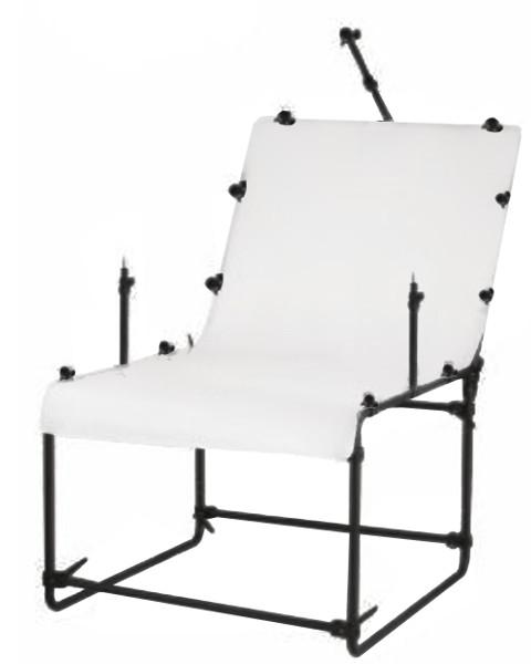BRESSER Y-10 Table de prise de vue avec Porte-lampes 100x200cm