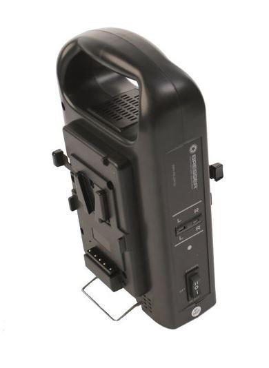 BRESSER BR-RL2KS Lader voor 2 V-Lock Accu